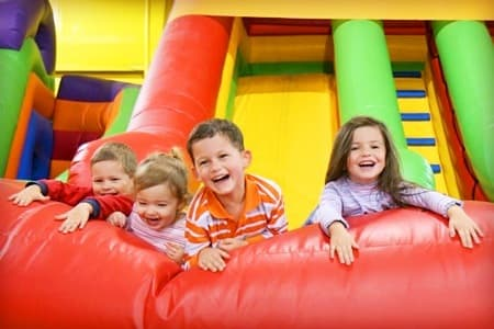 bouncy castle school tour